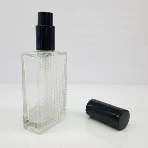 S5 Screw Perfume Bottle Glass Square Bottle 50ml pictures & photos