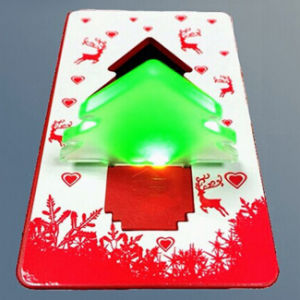 Hot Promotional Gifts LED Credit Card Light with Logo Printed (4017)
