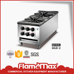 Hot Saling Stainless Steel Heavy Duty Gas Stove (HGR-2) pictures & photos
