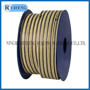 Yp001 Graphite PTFE with Aramid Fiber in Corners Reinforced Braided Packing pictures & photos