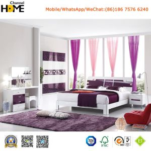 New Elegant Design High Gloss Lacquered Modern Bedroom Set (HC217) pictures & photos