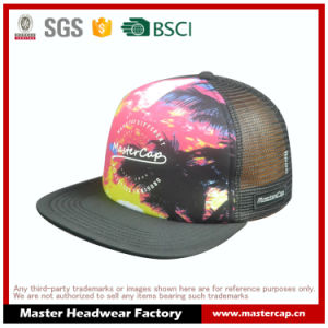 Adult Size Mesh Cap Snap Back Hat with Thick Printing