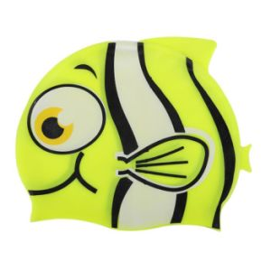 Unisex Kids Baby Boys Girls Cartoon Silicon Waterproof Swimming Cap pictures & photos