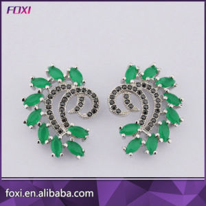 Ladies Earrings Designs Pictures Brass Zirconia Ear Jewelry Brincos pictures & photos