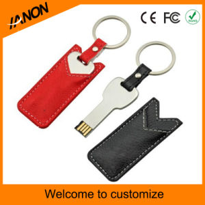 Key Shape Leather USB Flash Drive pictures & photos