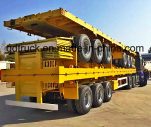 20/40 Feet 3 Axles Flat Bed Container Semi Trailer pictures & photos