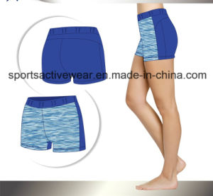 Polyester Yoga Print Fasnion Shorts for Women pictures & photos