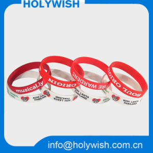 Personalized Bracelet Silicone Rubber Wristbands with Screen Logo