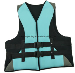Neoprene Life Jacket with Polyester Fabric (HXV00015) pictures & photos