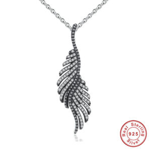 New Arrival 925 Sterling Silver Majestic Feathers Pendants Necklaces pictures & photos