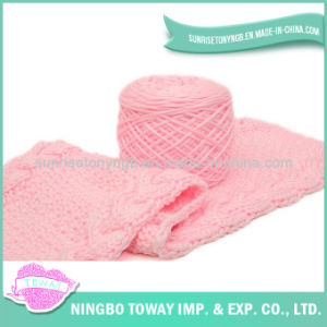 Hot Women Wholesale Cotton Long Knitted Pink Scarf pictures & photos