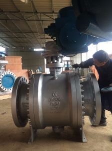 DIN Wcb Electric Ball Valve (Q947F) pictures & photos