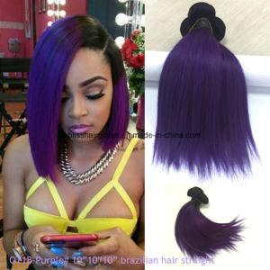 10 Inches Ombre Color Purple Brazilian Virgin Hair pictures & photos