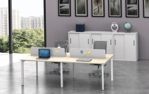 White Customized Metal Steel Office Staff Workstation Desk Frame with Ht05-3 pictures & photos