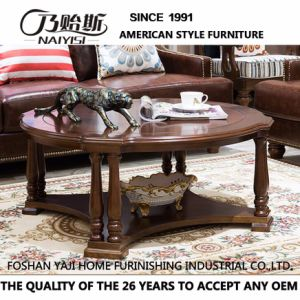 Work Well Wooden Round Table for Coffee Tear Furniture as-838 pictures & photos