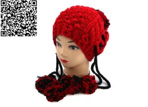 Hand Knit Pompom Pineapple Beanie Winter Hat China Supplier Factory pictures & photos