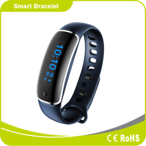Touch Screen Heart Rate Blood Pressure Monitor Bluetooth Smart Bracelet pictures & photos