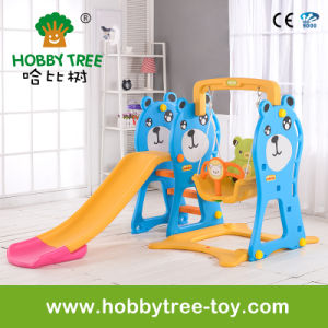 2017 Bear Style Hot Selling Indoor Plastic Kids Slide (HBS17020B)