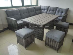 Mtc-268 PE Outdoor Furniture Rattan Garden Corner Sofa Dining Set pictures & photos