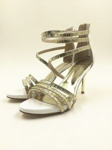 White Gold High Heel Women Sandal in Fashion Design pictures & photos