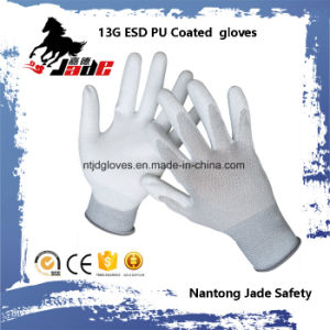 13G PU Coated ESD Touch Work Glove pictures & photos