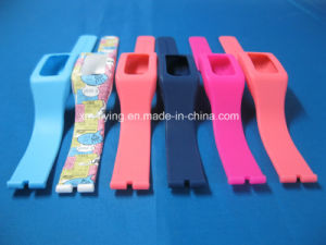High Quality Custom Removable Adjustable Logo Printed Silicone Watch Bands pictures & photos