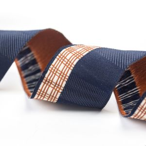 The Polyester Check Ribbon for Bags and Garments pictures & photos