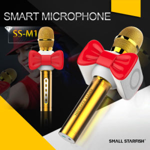 High Quality Wireless Bluetooth Karaoke Condenser Studio Microphone pictures & photos