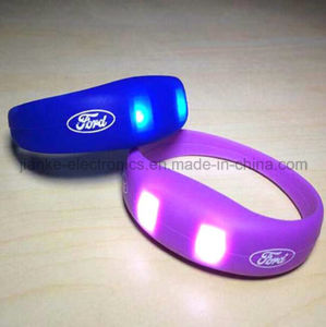 2016 Promotion Gifts LED Flashing Wristband with Logo Printed (4011) pictures & photos