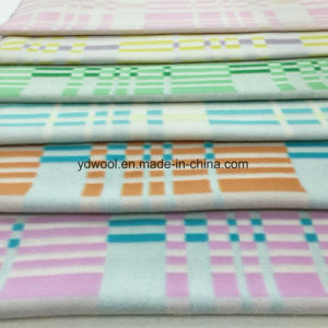 Big and Small Check Napping Wool Fabric pictures & photos