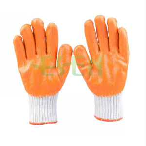 Latex Gloves 7 Gauges Cotton Polyester Latex Coated Palm (D14-H1) pictures & photos