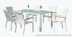 Modern Patio Outdoor Garden Furniture Set Aluminum Polywood Table Chairs for Hotel Restaurant Bistro Backyard pictures & photos