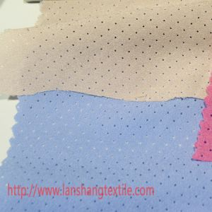 Polyester Fabric Dyed Fabric Chemical Fiberb Perforated Fabric for Woman Dress Coat Children Garment Home Textile pictures & photos