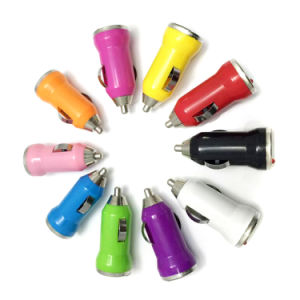 10 Colors Universal 1A Adapter DC Mini USB Car Charger for iPhone 7 Plus Samsung Mobile pictures & photos