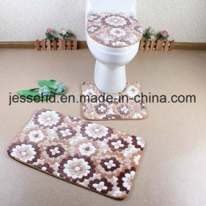 Waterproof Bathroom Floor Anti Slip Bathroom Floor Carpet 3PCS Set pictures & photos