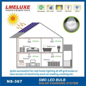 6V New Aluminium Materials Solar Lighting System Whit 3 LED Bulbs pictures & photos