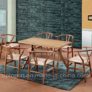 Wooden Restaurant Furniture Set with Y Chair and Rectangle Table (SP-CT729) pictures & photos
