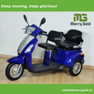 EEC Approved Three Wheel Electric Handicapped Trike/ Tricycle/ Scooter with Two Seats pictures & photos