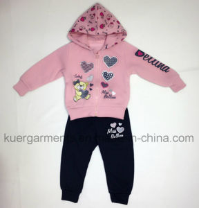 Winter Kids Girl Sport Suit for Children Clothes pictures & photos