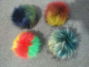 Mixed Colors Faux Fur Ball Attach to Hats and Keyrings pictures & photos