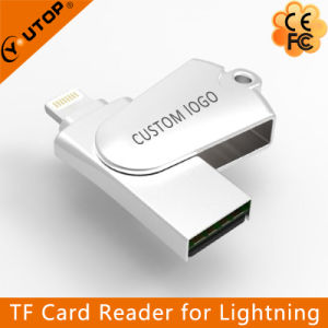 Metal Swivel Microsd Flash Memory USB + Lightning Card Reader (YT-R005) pictures & photos