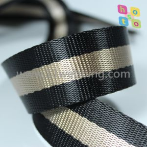 Striped Polyester Fake Nylon Webbing for Bag Accessories Shoulder Strap pictures & photos