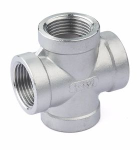 NPT BSPT BSPP Stainless Steel 316 304 Cross Fitting pictures & photos