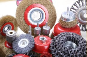 Crimped Wire Bench Grinder Brushes (WB-002) pictures & photos