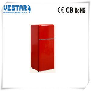 Two Door Refrigerator Mini Fridge with Top Freezer pictures & photos