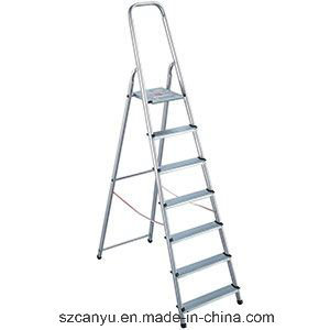 Aluminum Safety Step Ladder with Handrail pictures & photos