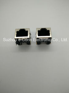 Single-Port Magnetic Modular Jacks with LED, Rj 45 8p8c pictures & photos
