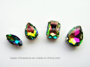 Oval Boat Rainbow Color Crystal Sew on Setting Rhinestone Glass Beads (SW-Boat 9*18 rainbow color) pictures & photos