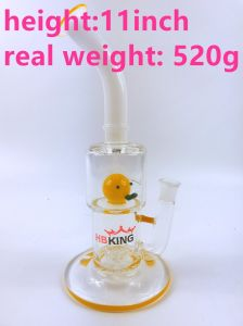 2017 Hot Selling Straight Smoke Water Pipe with Yellow Duckling pictures & photos