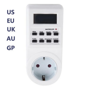 7 Day 24 Hour Digital Timer Switch Time Controller Appliance with Clock LCD Display 220~240V pictures & photos